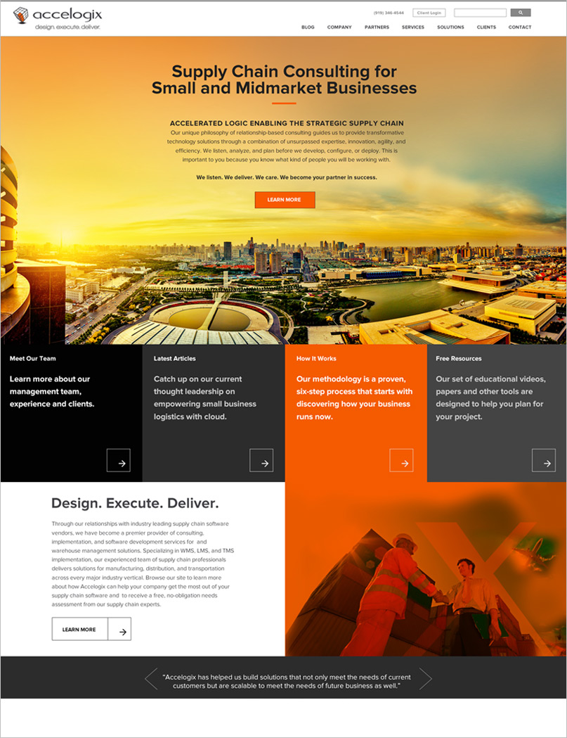 Logistics Web Design